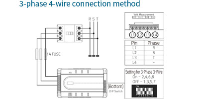 3-phase 4-wire connection method