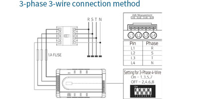 3-phase 3-wire connection method